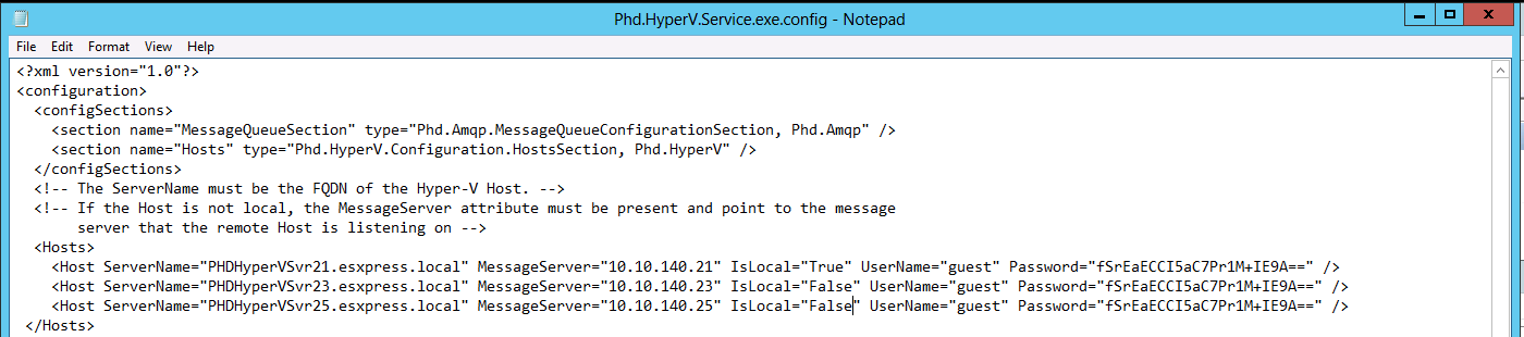 PHDVB v7 for Hyper-V Configuring Multi-Host Environments for Hyper-V If you would like to manage the data protection of multiple Hyper-V hosts in a single Environment, you can configure a multi-host
