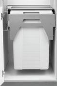 "Plastic «Euro Cargo» waste bins (4L) Can be installed to cabinet side panel of 6 or 9 mm (5/8"" or 3/4"") Can be fixed to cabinet with frame (spacers required) Comes with fixing bracket Can be used"