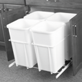 "Plastic «Euro Cargo» waste bins (87L) Supplied with metal frame sets on slides to be fixed to both sides of cabinet Can be installed to cabinet side panel of 6 or 9 mm (5/8"" or 3/4"") Can be fixed to"
