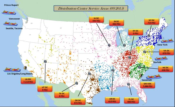 Family Dollar s Distribution Network Distribution Centers (DCs) Location Year Opened Size (Square Feet) Automated
