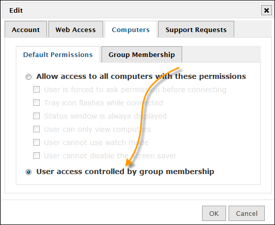 Limiting access to specific computers Many times you may find it necessary to only allow access to a specific list of computers, or have different permissions for certain groups of
