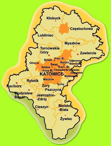 Śląsk with main city of Katowice) Lower