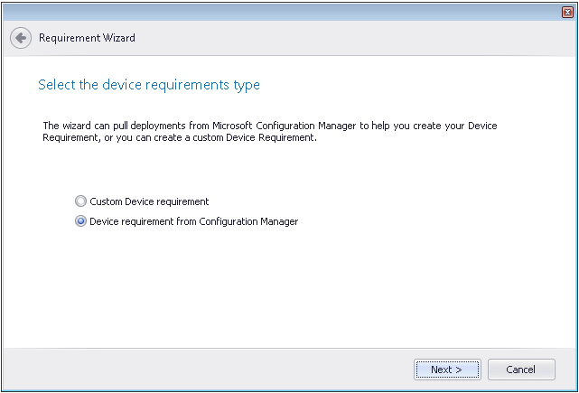 Ability to Import Device Requirements from System Center 2012 Configuration Manager Release Notes In AdminStudio 2013, you can choose to import device requirements from Microsoft System Center 2012
