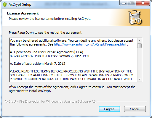 The installer may be bundled with an optional offer for additional software, in which case you must accept that license as
