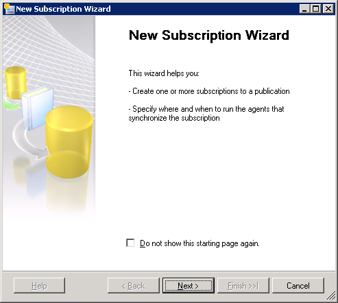 Setup and configure Subscription on SQL 2008R2 New