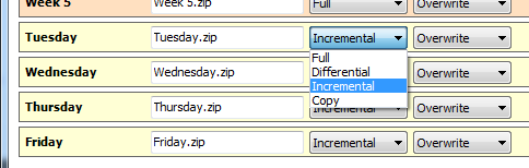 19 Full, incremental, differential, and copy backups with the Zip Engine 1.