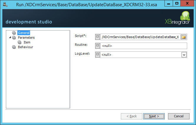 7 Update database The next thing to do is update the database. Navigate to XDCrmServices > Base > DataBase.