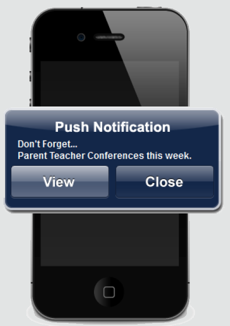Mobile App Key Benefits PUSH NOTIFICATIONS - Keep your audience informed!