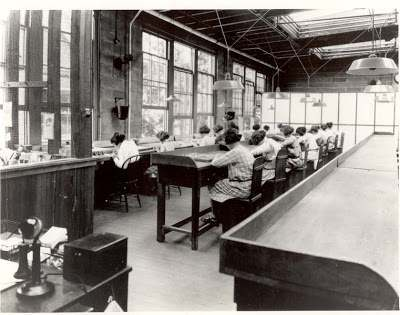 Radium Girls Female factory workers who painted watch dials with glowin-the-dark paint at the United States Radium factory in Orange, New Jersey around 1917.
