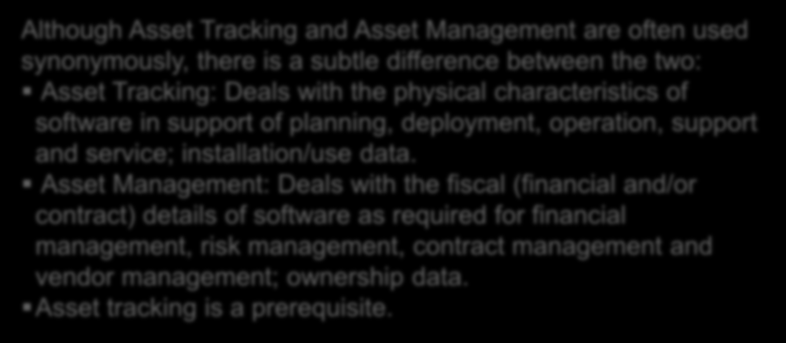 "Software Asset Management (""SAM"") How does it help? SAM helps organizations understand what software they have licensed, deployed, in use, and the deltas between those figures."