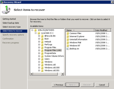 Recovery scenarios Recover the entire server from bare metal Recover specific files and folders Restore all Hyper-V VMs to the same host Restore a single VM Restore a single VM to a different host
