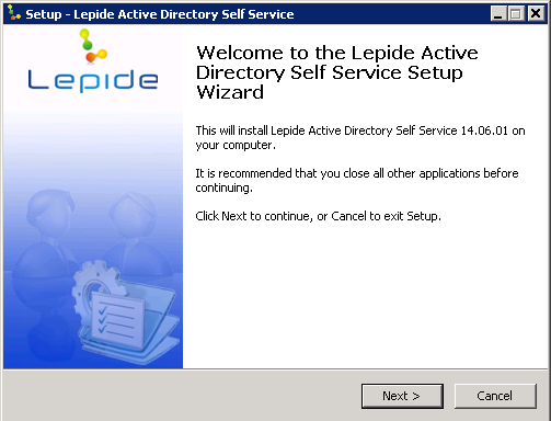 3. Installing Lepide Active Directory Self Service Download the setup file of Lepide Active Directory Self Service from www.lepide.com/download-adselfpassword-reset.html and save it on the disk.