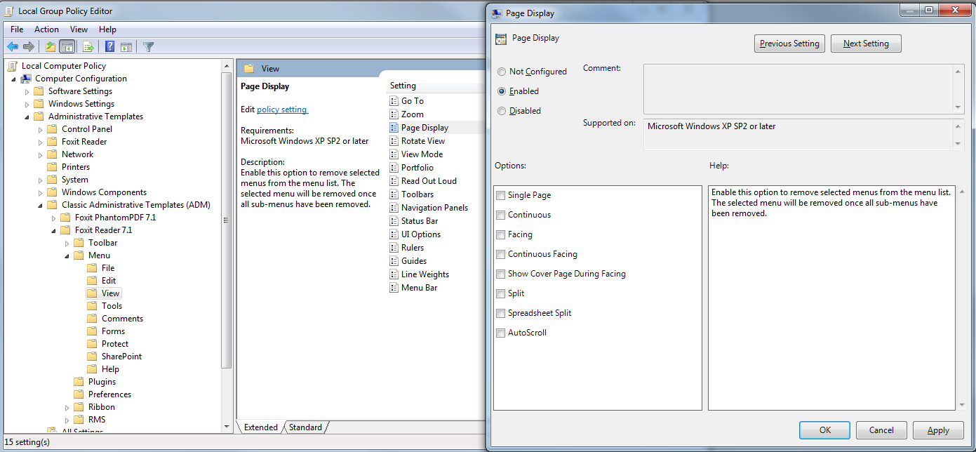 Note: Group Policy setting includes computer configuration and user configuration. Computer configuration takes precedence over user configuration.