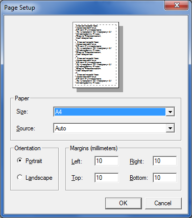 FILE The File menu is used to check and set your printer and printing page properties, as well also be used to close down the software if needed.