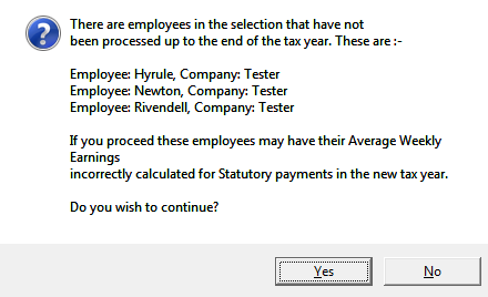 new tax year before monthly employees have been processed for month 12 then you can select Weekly and just transfer the weekly employees.