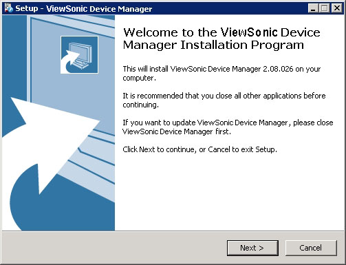 Installing and Upgrading ViewSonic Device Manager Installing ViewSonic Device Manager 2.