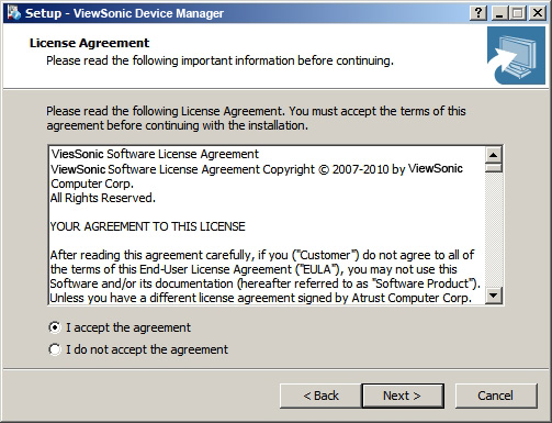 Installing and Upgrading ViewSonic Device Manager Installing ViewSonic Device Manager 6. A message appears prompting you to restart for the installation of a prerequisite program.