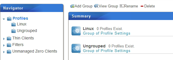 Managing All Your Clients 3.4.9 Creating Setting Profile Groups A setting profile (group configuration) is a set of client settings shared by a set of clients.