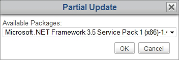 Managing All Your Clients 4. The Command menu appears. 5. Click to select Partial Update. 6. The Partial Update window appears prompting you to select the software package. 7.