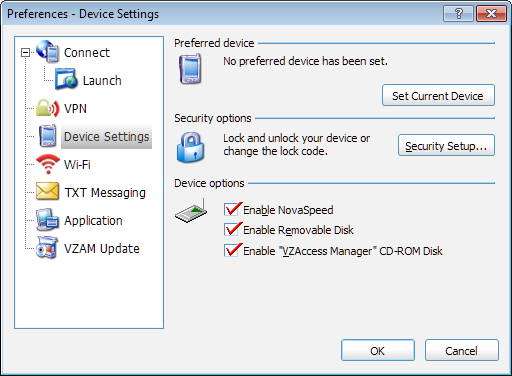 Chapter 6 Preferences Preferred Device This section allows you to set or clear a preferred device for your WWAN connections. This section applies if you have multiple WWAN devices.