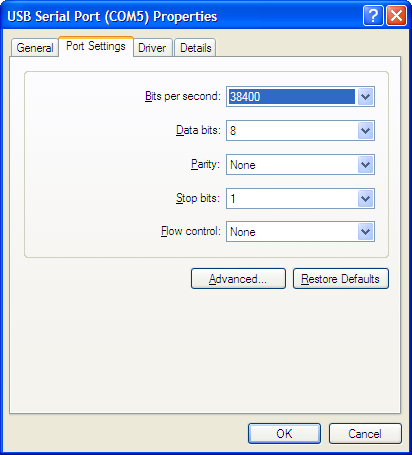 Figure 4. Device Manager Window.