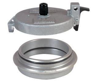 Monitor Caps and Adaptors 305XP Series Leak detection cap. Fits top seal adaptor, Available with a 3/8 or ½ threaded (NPT) hole for cable connector. 3/8 or ½ cable connector is available with cap.