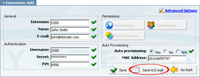 "17 Cisco 7940 How To an example with details filled in 2. Click on the ""Save"" button. an example with details filled in 3. Click on the ""Save & E-mail"" button."