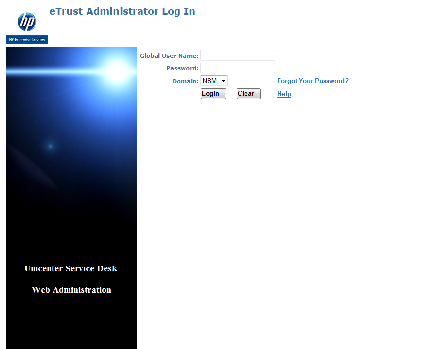 Enter your Service Desk user id and the CURRENT password.