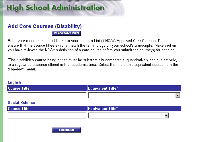 Courses for Students with Education-Impacting Disabilities Process is the same for submitting courses for students with educationimpacting disabilities (EID).