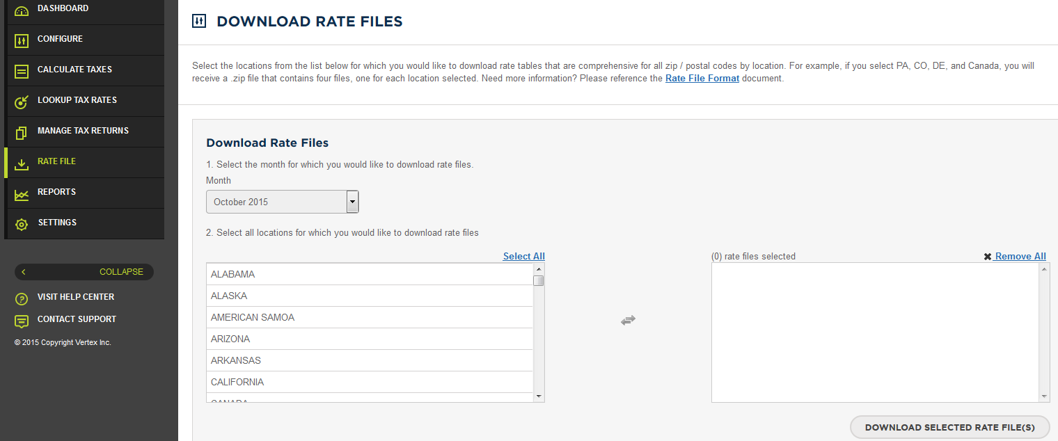5. A la Carte Offerings Enhanced Tax Rate Files for Download By State Customer List Stand Alone Returns