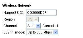 Gateway for added security. The SSID name should always begin with CG3000D.