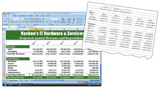 Business Software How is a spreadsheet organized?