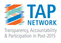 [LOGOS FOR ENDORSEMENT] TAP Network Response to the Post-2015 Zero Draft The Zero Draft of the Outcome Document for the Post-2015 Development Agenda represents a critical juncture in laying out a new