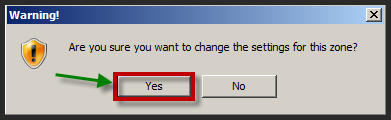 5. Scroll to the section that pertains to ActiveX controls, change the value for the option