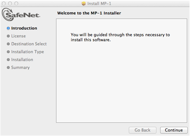 pkg link (Step 1 in the email) to start downloading the MP-1 Application.
