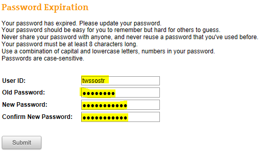 What do I do if my Portal/POS or Network/Workstation password has expired? 1.