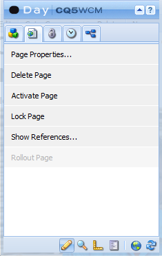 120 2. Delete, Activate, and Show References Clicking this will delete the page you are working on.