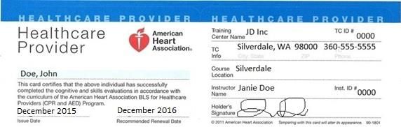 Medical Document Manager: Additional Items CPR CPR (Healthcare Provider Level) Cards must read: Healthcare Provider & be from the American Heart Association and cover entire duration of the program