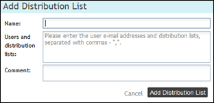 Managing Distribution Lists Organization Administrators can create WatchDox Distribution Lists, which are sets of users.