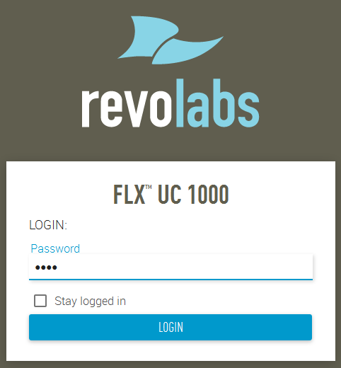 6. Configure Revolabs FLX UC 1000 This section provides the procedures for configuring Revolabs FLX UC 1000. The procedures fall into the following areas: Launch web interface.