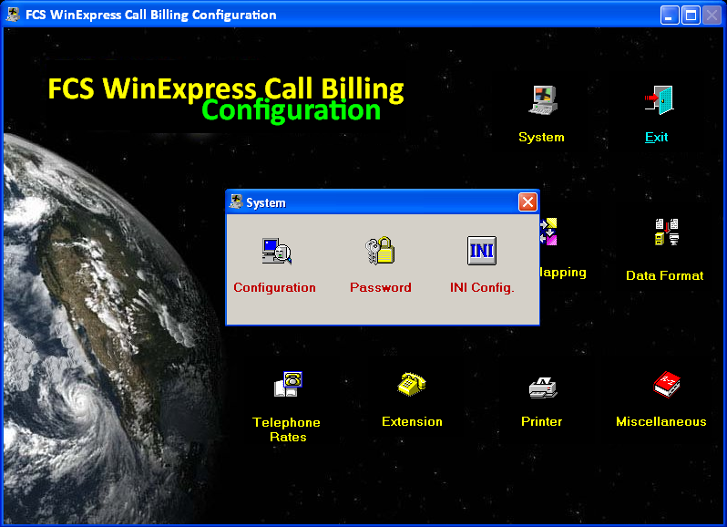 5.3. Configuring WinExpress Call Billing for Avaya IP Office Open the FCS WinExpress Call Billing Configuration, as shown below.