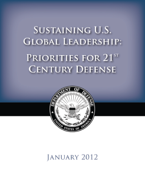 POTUS: DoD Will Be Agile efense Security Review, 5 Jan 12 The United States is going to maintain our military superiority