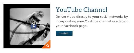 com, select the option for applications and click install on the YouTube Channel application.