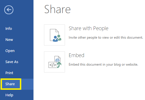 2. Share an online document with another person. Step 1.