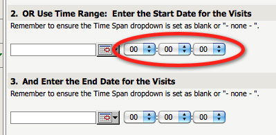 Using Time Picker in Date Prompts For date value prompts, in addition to the standard date picker that allows you to pick a date, you have an option to select a specific time using drop-down menus,