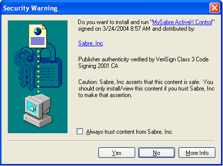 The installation routine will use an ActiveX plug-in to check your system to ensure it meets the