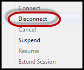 Disconnecting VPN 2 methods to disconnect the VPN Right-click on the CACI VPN icon in the bottom right hand corner of your PC