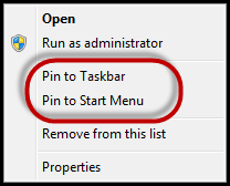 Pinning Juno Pulse to your Start Menu or Task Bar Click from your task bar Right click on Select