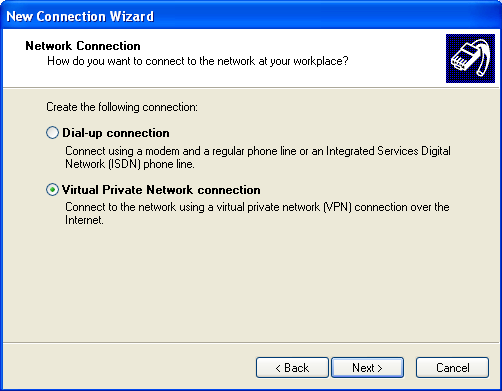 Microsoft VPN Windows XP Ensure you have logged on with Administrator rights before attempting this procedure. 1.