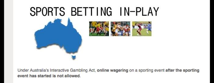 : Accessibility Online In-play To place live sports bets online on sporting events you need to look to an overseas bookmaker.
